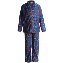 Stan Herman Pajamas - Long Sleeve (For Little and Big Kids) in Navy Snowflake Print - Closeouts