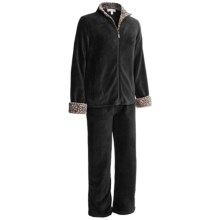 Stan Herman Plush Loungewear Set (For Women) in Black - Closeouts