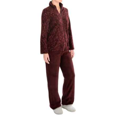 Stan Herman Plush Loungewear Set (For Women) in Merlot - Closeouts