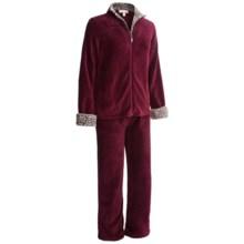 Stan Herman Plush Loungewear Set (For Women) in Merlot - Closeouts