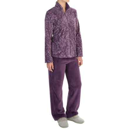 Stan Herman Plush Loungewear Set (For Women) in Plum - Closeouts