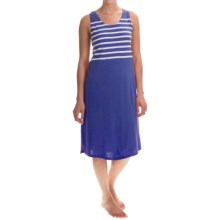 Stan Herman Short Nightgown - Sleeveless (For Women) in Navy Stripe - Closeouts
