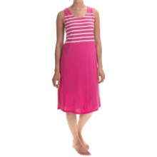 Stan Herman Short Nightgown - Sleeveless (For Women) in Pink Stripe - Closeouts