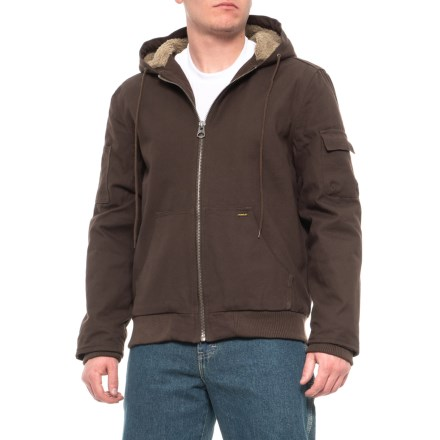4dc33d52e3f4 Stanley Canvas Hooded Jacket - Sherpa Lined (For Men) in Brown - Closeouts