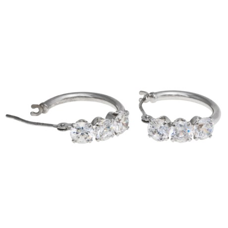 Stanley Creations 10K Gold and Cubic Zirconia Earrings in White Gold/Cz