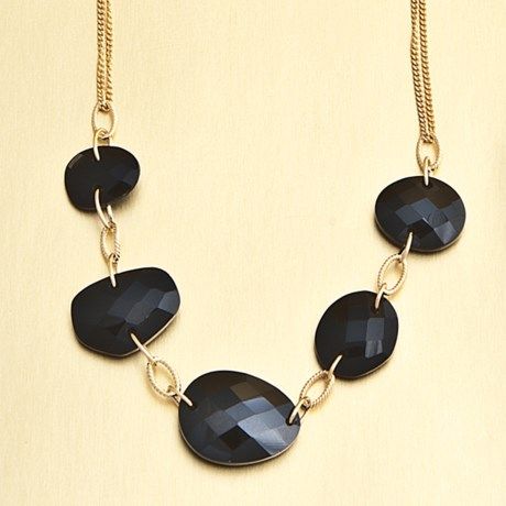 Stanley Creations Black Spinel Necklace in Gold W/Black Spinel