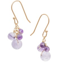 Stanley Creations Chalcedony Earrings - Gold-Plated Silver in Amethyhst/Purple/Gold - Closeouts