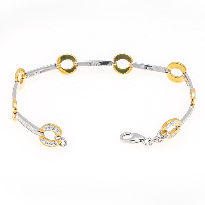 stanley creations pave link bracelet sterling