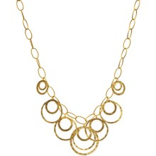Stanley Creations Matte Hammer Necklace - Gold Plated in Gold - Closeouts