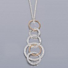 Stanley Creations Multi-Circle Necklace - 14K Gold in 14K/Sterling Silver - Closeouts