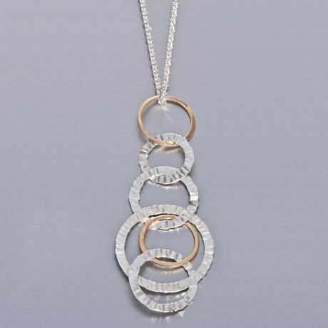 Stanley Creations Multi-Circle Necklace - 14K Gold in 14K/Sterling Silver