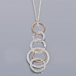 Stanley Creations Multi-Circle Necklace in 14K/Sterling Silver