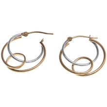 Stanley Creations Multi-Loop Earrings - Two-Tone 14K Gold in White Gold/Yellow Gold - Closeouts