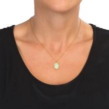 Stanley Creations Semi-Precious Stone Necklace in Gold/Aqua Chal - Closeouts