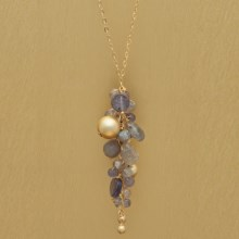 Stanley Creations Short Multi-Cluster Iolite Necklace in Gold W/Iolite - Closeouts