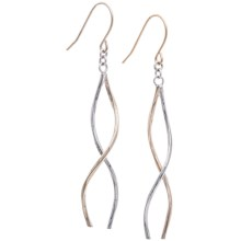 Stanley Creations Twisted Dangle Earrings - 14K Gold, Sterling Silver in Gold/Silver - Closeouts
