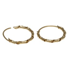 Stanley Creations Twisted Hoop Earrings - Gold Over Sterling Silver in Gold/Multi - Closeouts