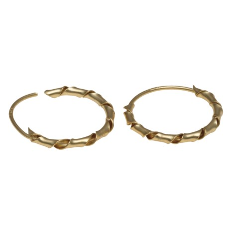 Stanley Creations Twisted Hoop Earrings - Gold Over Sterling Silver in Gold/Multi