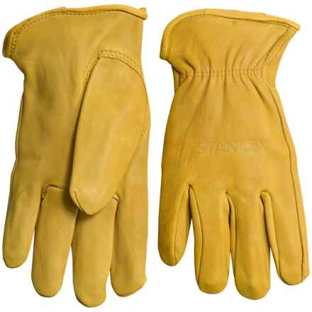 Stanley Deerskin Driver Work Gloves - Leather (For Men and Women) in Tan - Closeouts
