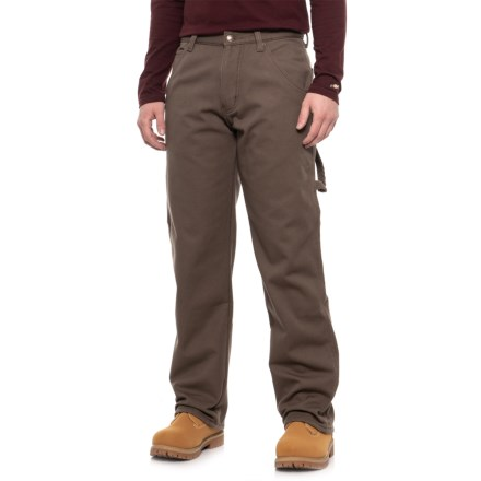 5401b3cdc646ff Stanley Fleece-Lined Canvas Carpenter Work Pants (For Men) in Coffee -  Closeouts