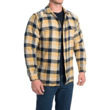 Stanley Fleece-Lined Shirt Jacket - Long Sleeve (For Men) in Blue/Yellow/Khaki - Closeouts