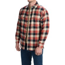 Stanley Fleece-Lined Shirt Jacket - Long Sleeve (For Men) in Red/Blue/Khaki - Closeouts