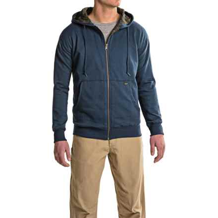Stanley Full-Zip Hoodie - Camo Lined (For Men) in Navy - Closeouts