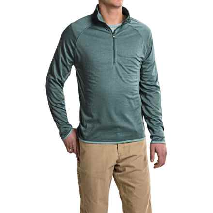 Stanley Heathered Shirt - Zip Neck, Long Sleeve (For Men) in Green Heather - Closeouts