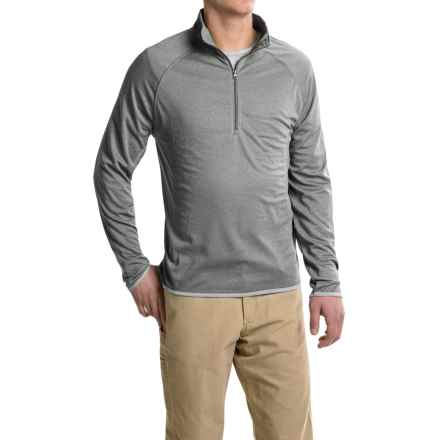 Stanley Heathered Shirt - Zip Neck, Long Sleeve (For Men) in Heather Grey - Closeouts