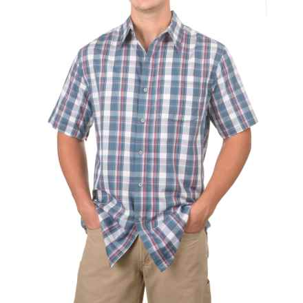 Stanley High-Performance Plaid Shirt - Short Sleeve (For Men) in Grey/White Plaid - Closeouts