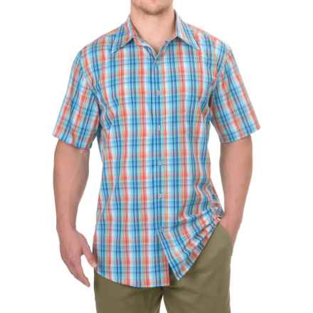 Stanley High-Performance Plaid Shirt - Short Sleeve (For Men) in Turquoise Plaid - Closeouts