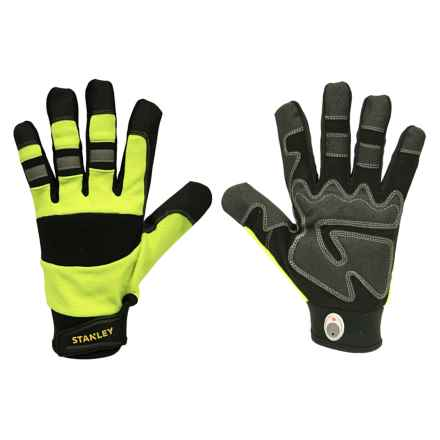 Stanley High-Visibility Padded Grip Work Gloves (For Men and Women) in Lime - Closeouts