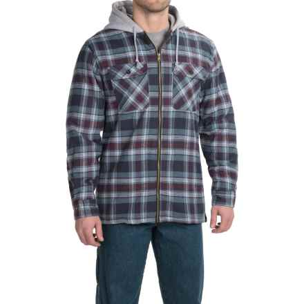 Stanley Hooded Shirt Jacket - Sherpa Lined (For Men) in Blue - Closeouts