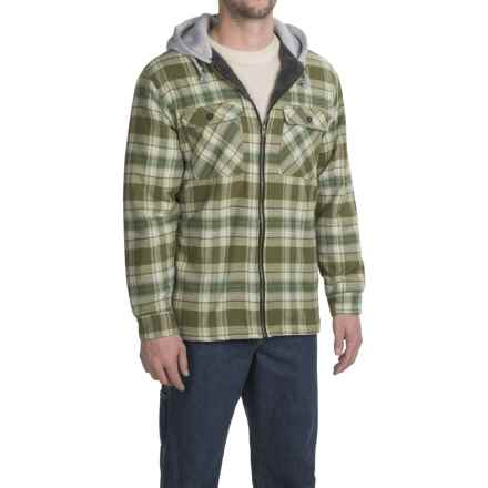 Stanley Hooded Shirt Jacket - Sherpa Lined (For Men) in Green - Closeouts