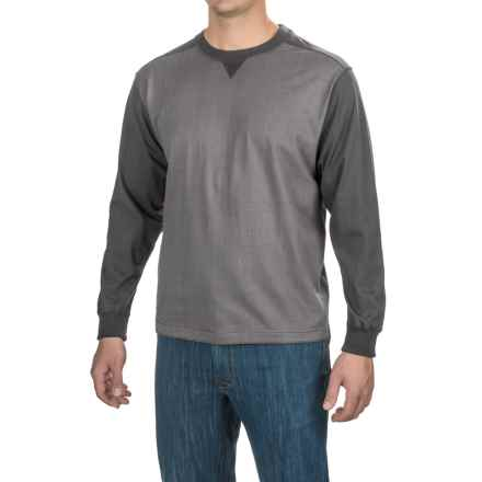 Stanley Jersey-Knit Shirt - Long Sleeve (For Men) in Asphalt/Charcoal Heather - Closeouts