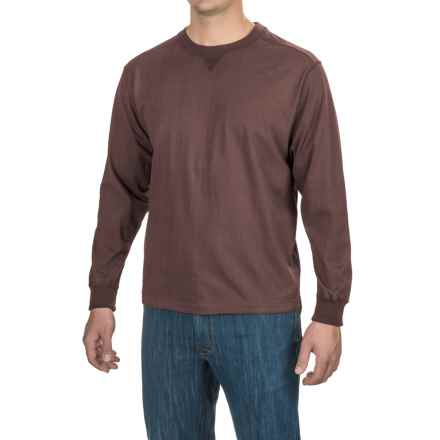 Stanley Jersey-Knit Shirt - Long Sleeve (For Men) in Brown Solid - Closeouts
