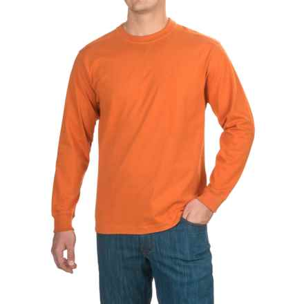 Stanley Jersey-Knit Shirt - Long Sleeve (For Men) in Burnt Orange Solid - Closeouts