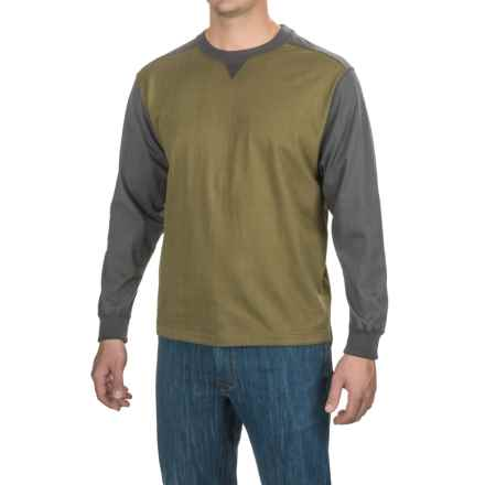 Stanley Jersey-Knit Shirt - Long Sleeve (For Men) in Olive/Charcoal Heather - Closeouts