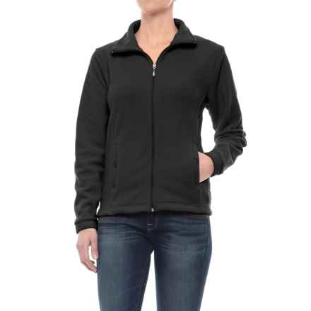 Stanley Lightweight Fleece Jacket - Full Zip (For Women) in Black - Closeouts