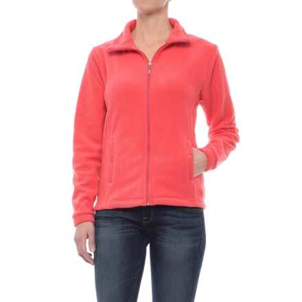 Stanley Lightweight Fleece Jacket - Full Zip (For Women) in Salmon - Closeouts