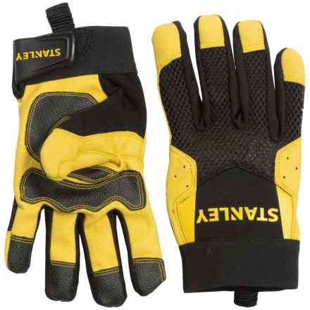 Stanley Mechanics Comfort Grip Work Gloves (For Men and Women) in Black/Yellow - Closeouts
