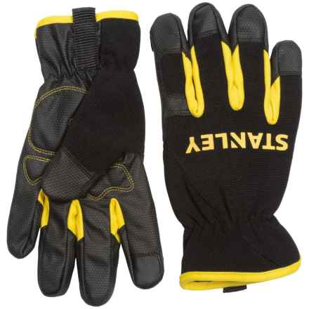 Stanley Mechanics Touchscreen Work Gloves (For Men and Women) in Black/Yellow - Closeouts