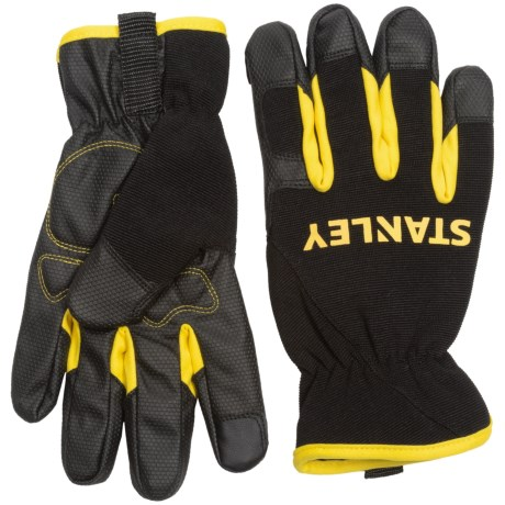 Stanley Mechanics Touchscreen Work Gloves (For Men and Women) in Black/Yellow
