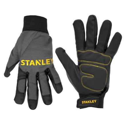 Stanley Padded Comfort Grip Work Gloves (For Men and Women) in Grey/Black - Closeouts