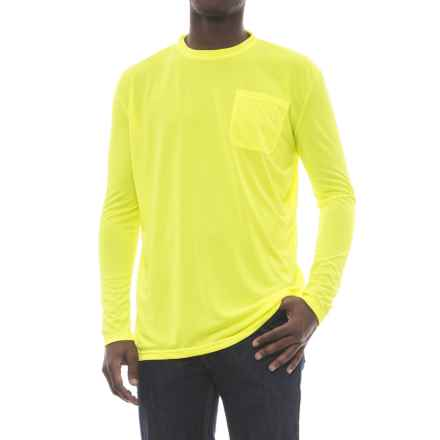 Stanley Performance Hi Vis Pocket T-Shirt - Long Sleeve (For Men) in Hi Vis Yellow - Closeouts