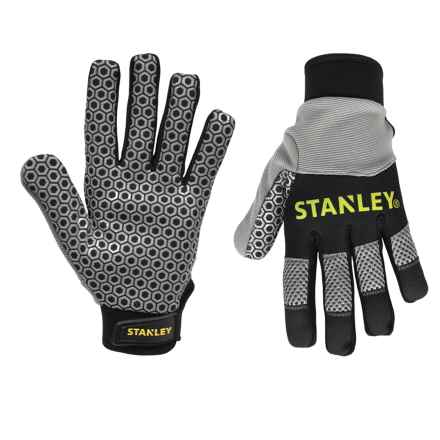 Stanley Silicone Gripper Work Gloves (For Men and Women) in Grey/Black - Closeouts