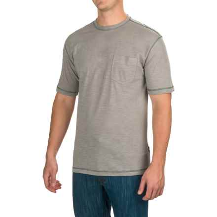Stanley Slubber Pocket T-Shirt - Short Sleeve (For Men) in Light Gry - Closeouts