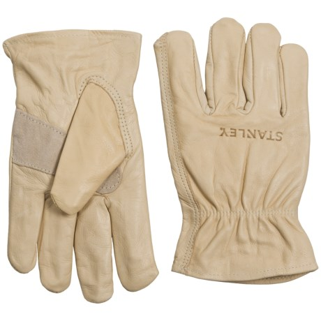 Stanley Unlined Premium Leather Cowhide Work Gloves (For Men and Women) in Tan