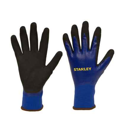 Stanley Waterproof Nitrile Work Gloves (For Men and Women) in Blue - Closeouts