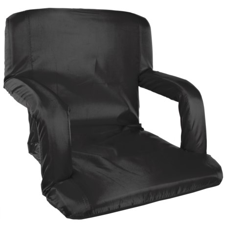 Stansport Multi-Fold Padded Arm Chair in Black